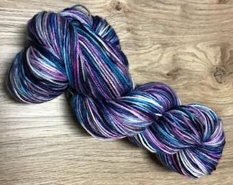 Hand Dyed Yarn Dark Stary Night