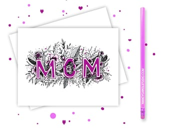 First Mothers Day Card - Hand Illustrated - Mothers Day - Card for Mom