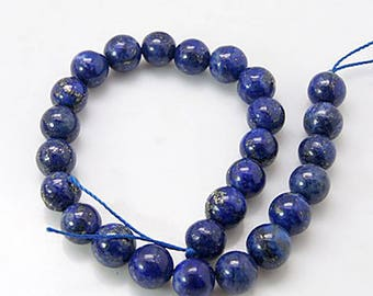 Bead of lapis lazuli ø8mm * to the unit *.