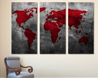 Red world map etsy quick view abstract deep red world map gumiabroncs Choice Image