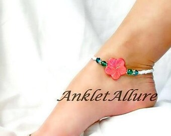 FLOWER Ankle Bracelet BEACH Ankle Bracelet BEADED Anklets for Women Beach Proof Guaranteed