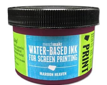 Maroon Heaven 690 Merchmakr Water-Based Ink for Screen Printing