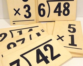 Flash Cards Multiplication Set of 5