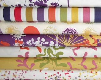 PIPER Fat Quarter Bundle  - DEAR STELLA Cotton Quilting Fabric - 8 pcs