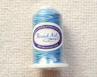 SALE - Blue Variegated Cotton Sewing thread - 650 Yds per Spool                                                             04/18