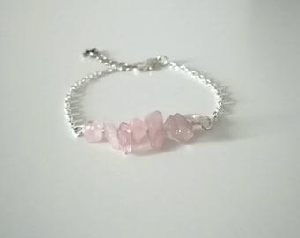 Lea in quartz pink bracelet.