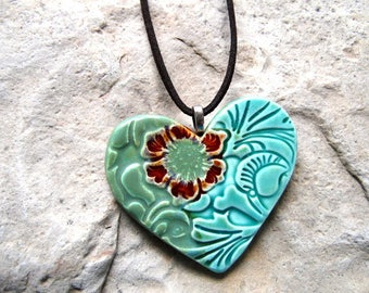 Cowgirl Artisan Heart Necklace, Southwestern Jewelry, Western Jewelry, Cowgirl Jewelry, Rodeo Jewelry, Western Heart, Vintage Cowgirl