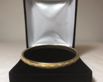 Snakeskin Bangle with Gold Trim