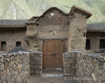 Sacred Valley Entries 5, Fine Art Photography, Landscape, Inca, Ollantaytambo, Small Town, Doorway, Ruins, Wall Art, Home Decor