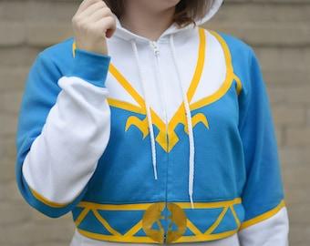 Zelda, Zelda cosplay, Legend of Zelda, Princess zelda, Princess zelda cosplay, Zelda jacket, Zelda hoodie, Breath of the wild