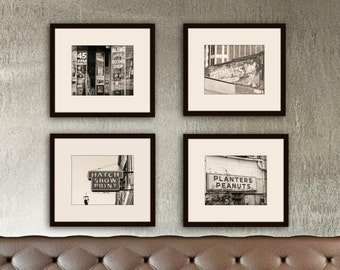 Nashville art sepia photography set of 4 prints urban art Nashville Tennessee wall art sepia prints industrial art home decor