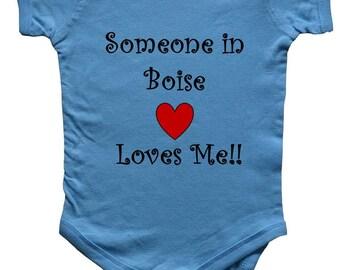 Someone In BOISE Loves Me - City Series - BigBoyMusic Baby One Piece Bodysuit