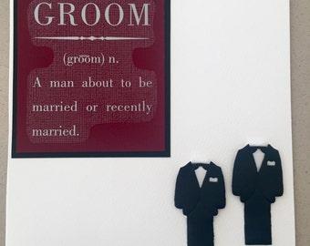 Grooms Defined (Two Grooms, Gay Wedding Card)
