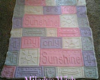 Princess Sunshine You Are My Sunshine Blanket Crochet Afghan Throw
