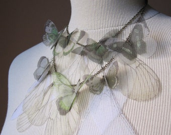 I Will Fly Away - Green Butterflies Necklace - FREE SHIPPING WORLDWIDE