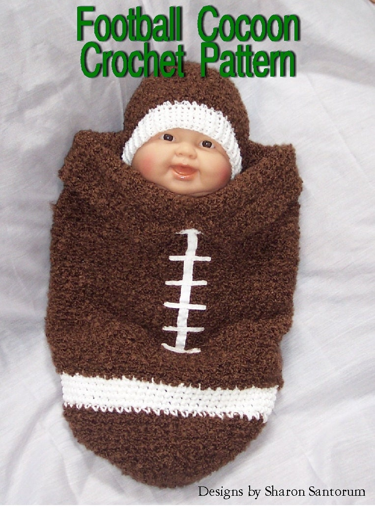 Football Cocoon Crochet Pattern PDF INSTANT DOWNLOAD.