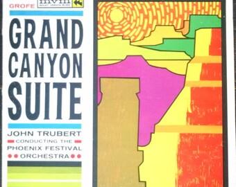 Grofe Grand Canyon Suite LP, Rare Vintage 1970s Vinyl Record - Phoenix Festival Orchestra. Colorful album art, cool classical music gift!