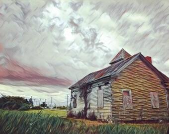 Coastal Decor,Fine Art Print, Photography, Wall Art,Barn,Farm,Rustic,Weathered,