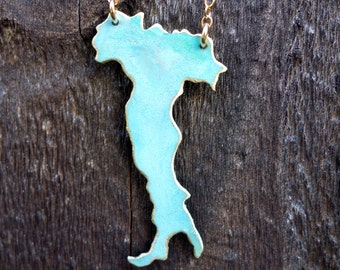 Italy Patina Necklace Handcrafted