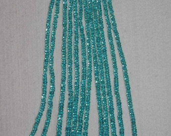 Apatite, Apatite Rondelle, Smooth Rondelle, Graduated Rondelle, Gemstone Bead, Natural Apatite, Full Strand, 4-7 mm, AdrianasBeads