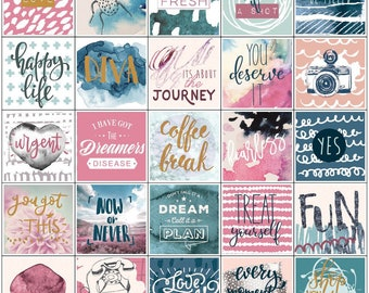 "Inspirational My Prima Planner Stickers  6""X6"" 3/Pkg • Positive Quotes Planner Sticker (593575)"