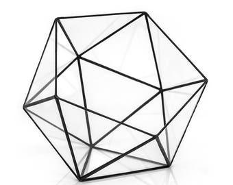 Geometric Icosahedron Terrarium ~ Glass Terrarium ~ Geometric Planter ~ Wedding Decor ~ Succulent Terrarium ~ Loft Style ~ Home Decor