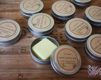 Mini hand lotion bar, all natural, homemade, party favor