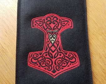 E-reader sleeve, Notebook sleeve,  Samsung Tab A 2016 sleeve,   Thors Hammer Cover, Celtic Cover, 17 by 27 cm (6,7 by 10,6inch)