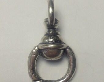 Heavy sterling silver charm holder