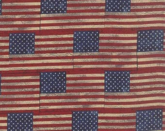 Sundance Trail by Moda Vintage Flags Cotton Fabric 1/2 Yard Cut New