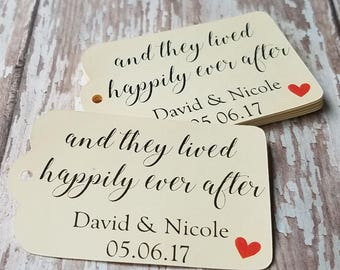 and they lived happily ever after, apple-y ever after, wedding tag, spring wedding favor, caramel apple favor, fairy tale wedding (209)