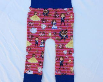 Evolutive pants, 6/36 months, grow with me baby, child, and the beast