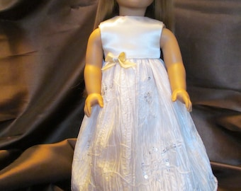 18''doll Bride Dress, Party Dress, Fancy Ball Gown, Satin Dress, Sequined Dress , Special Dressy Dress, Fancy Event Dress,Communion Dress