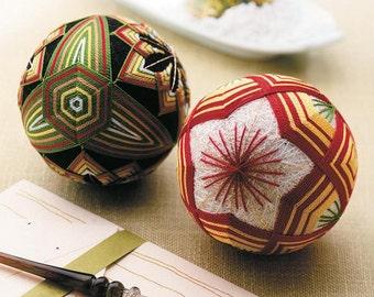 Olympus TM4 Temari Kit Plum Flowers 2 Balls - Traditional Japanese Temari