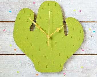 Cactus Clock   Cactus Decor   Gifts For Cactus Lovers   Cacti Wall Clock   Decorative Clock   Kitchen Clock   Housewarming Gift