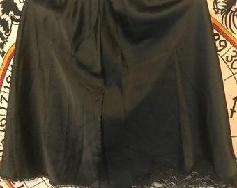Short Lace Slip Skirt