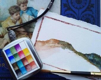 Wearable Watercolor Paint Locket ll
