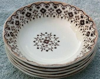 5 Lille Wedgwood dessert bowls brown