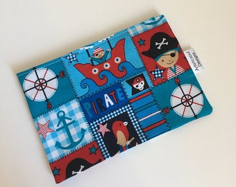 Reusable Snack & Sandwich Bag -- Jolly Pirates Print, Eco-Friendly