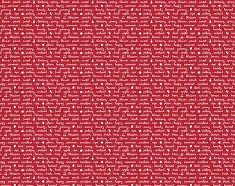 Sweet Orchard Text Red - C5484-Red by Sedef Imer of Down Grapevine Lane for Riley Blake Designs