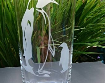 Personalised Engraved Penguin Highball Glass - New