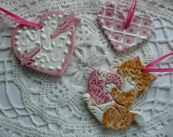 Ceramic Valentine Ornaments