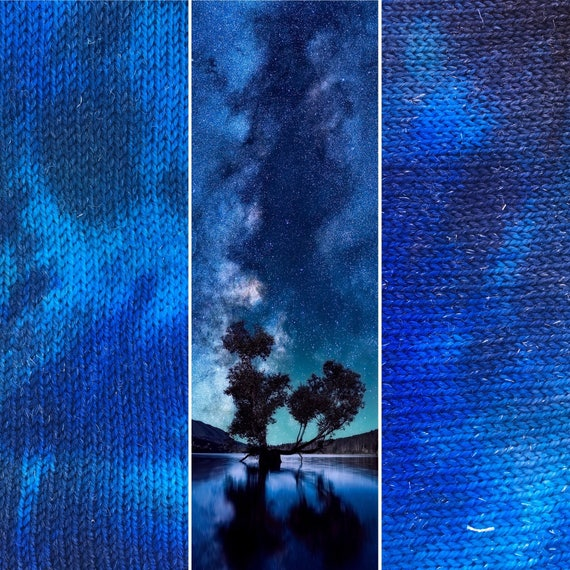Night Sky Sock Blank, indie dyed merino nylon yarn
