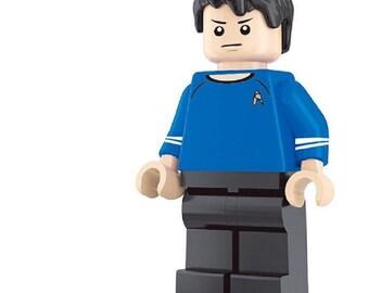 Spock custom Star Trek Minifigure fits LEGO Starship USS Enterprise