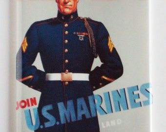"Marine Corps ""Ready"" Fridge Magnet"