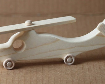 Handcrafted Large Wooden Helicopter  122