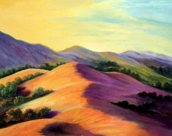 Summertime in California Mountains- Oil on canvas- Landscape painting