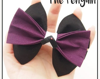 The Penguin Inspired Hair Bow / Bow Tie (Double / Single) (DC)