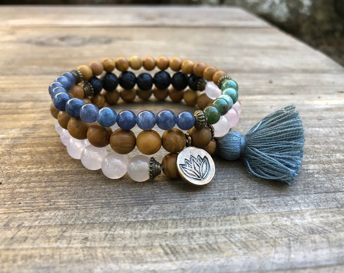 SERENITY Bracelet Set with tassel charm