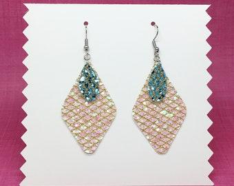 Handmade Layered Sequin Canvas Earrings